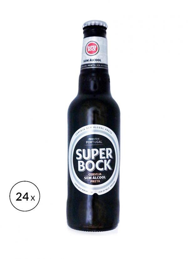Super Bock Cerveja sem alcool preta 0,5% • 24x 33cl